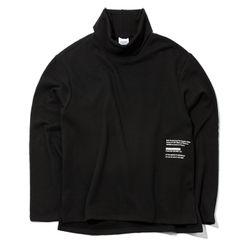 자니카슨 터틀텍 기모맨투맨 - BLACK