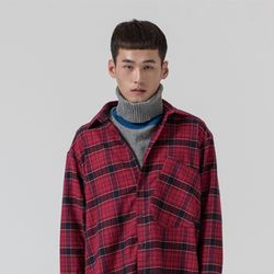 CHECK OVERSIZE SHIRTS RED