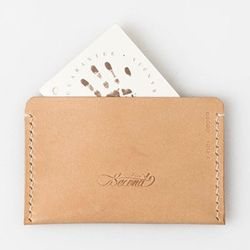 Second file S card wallet Natural