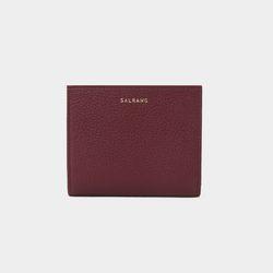 [밍크퍼키링 증정] Reims M501 Half Wallet burgundy