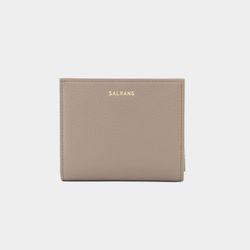 [밍크퍼키링 증정] Reims M501 Half Wallet warm grey