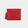 [밍크퍼키링 증정] Reims M501 Half Wallet cherry red