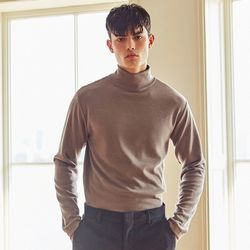 OPTIMAL POLO-NECK PULLOVER KNIT (MOCHA)