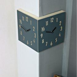 (ktk097)코너벽시계 헤리티지블루 BIG