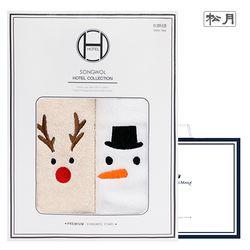 루돌프+눈사람+산타 2매선물세트 크리스마스