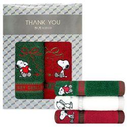 스누피 리본 크리스마스 2매 선물세트 기념수건