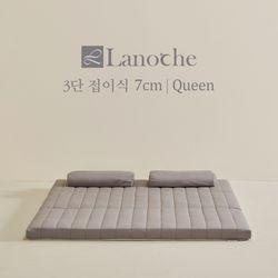 라노체 유럽 라텍스 3단접이식 매트리스 7cm Q