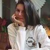 Doublequotes logo sweat shirt (white)