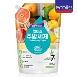 인블리스 현미초 주방세제 1300ml(리필) 레몬향
