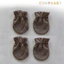 [무료배송] [CONY]오가닉줄무늬손싸개2종세트(신생아손싸개)