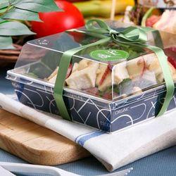 [대용량] 샌드위치케이스 정사각-실버네이비 50개