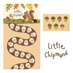 칭찬스티커 little chipmunk