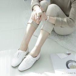 [쿠루] 2cm 베이직 스타일 옥스퍼드 화 MER-P1708