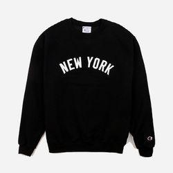크루넥 맨투맨 NEW YORK 블랙