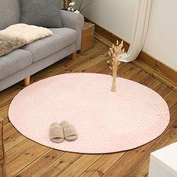 크리스탈 핑크 원형 150x150cm