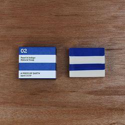 [천연수제비누] Stripe 02 white+blue