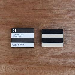 [천연수제비누] Stripe 01 white+black