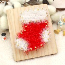 [~12/25까지] [스트링액자(소) 만들기] 크리스마스 양말