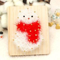[~12/25까지] [스트링액자(소) 만들기] 크리스마스 눈사람