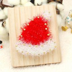 [~12/25까지] [스트링액자(소) 만들기] 크리스마스 모자
