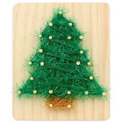 [~12/25까지] [스트링액자(소) 만들기] 크리스마스 트리(망치포함)