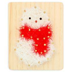 [~12/25까지] [스트링액자(소)] 크리스마스 눈사람(망치포함)