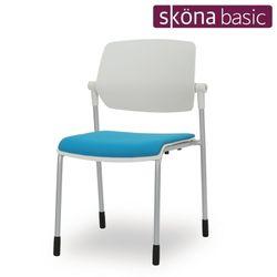 디엠 100 고정 흰사출(팔무 좌패드) 간이 의자