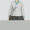 안개꽃 패턴 패딩 고름 저고리-면(패딩)-2color