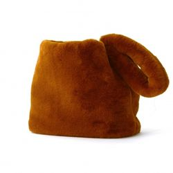 TRIANGLE fur BAG CAMEL