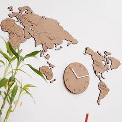 생각대로 세계지도 시계(소)