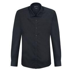 닛 블랙 슬림 스판덱스 어반 드레스 셔츠DWL4-18-DC