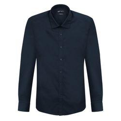 딥 네이비 슬림 스판덱스 어반 드레스 셔츠DWL4-19-DC