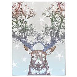 패브릭 포스터 F150 크리스마스 사슴 트리 [중형]