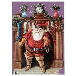 패브릭 천 포스터 F153 레트로 크리스마스 B [중형]