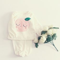 FW쿨쿨잠자는복숭아수면잠옷상하세트