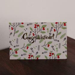 [ 패턴 카드 ] congratulations 축하 금박카드