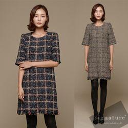 트위드 square dress