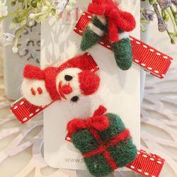 메리크리스마스 헤어핀 - 3종1set