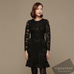 High lace dress