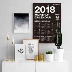 퍼니즈 2018 포스터캘린더 (모노블랙) A3 벽걸이달력