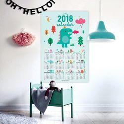 퍼니즈 2018 포스터캘린더 (어썸공룡) A3 벽걸이달력