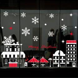 cj784-겨울날카페앞에서크리스마스스티커