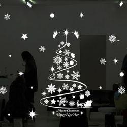 ps218-크리스마스눈꽃트리(대형)크리스마스스티커