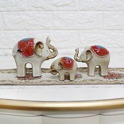 도자기코끼리 R101 3P SET 코끼리장식품