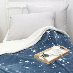 밀키웨이 네이비 밍크 담요 - 킹사이즈(200x220cm)