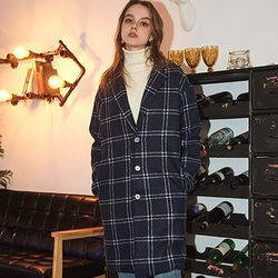 Crump over-fit classic check coat (CO0010)