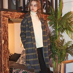 Crump over-fit classic check coat (CO0010-1)