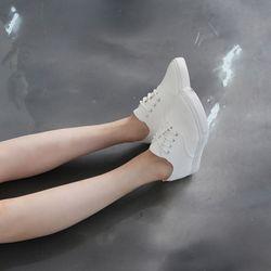 [쿠루] 여성 2cm 데일리 레이스업 스니커즈 G6170