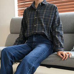 식스 체크 셔츠남방 (2color)