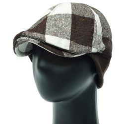 [더그레이]JH06C.귀달이 체크 골프 헌팅캡 남성 모자